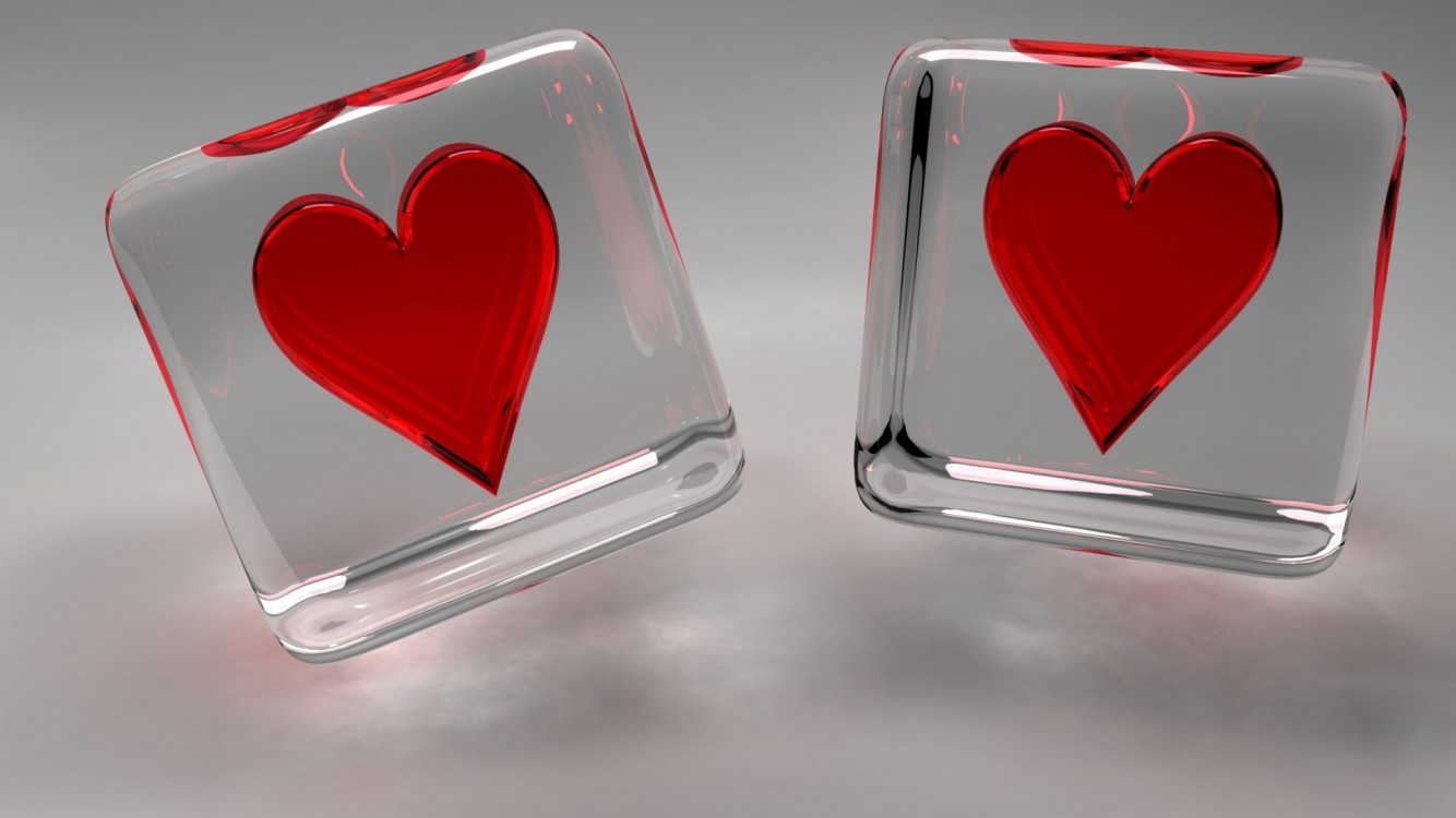 Download Free Love Heart Cubes Live Hd Wallpaper for Desktop and Mobiles
