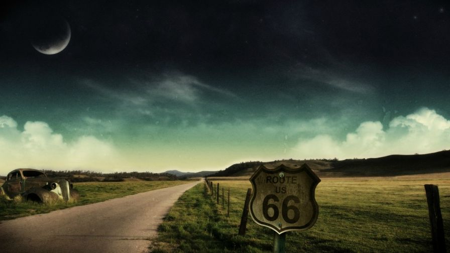 Download Full HD Route 66 Wallpaper Free