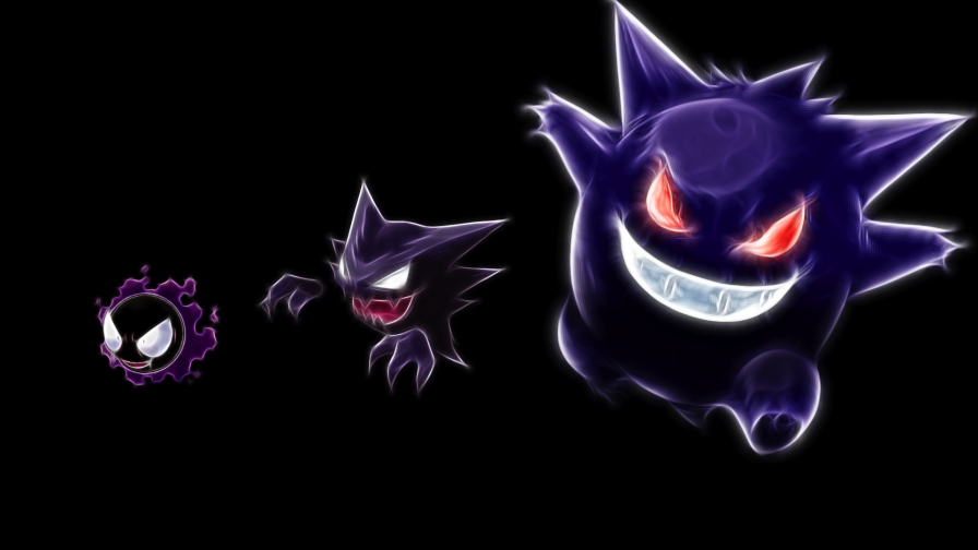 Download Gastly Haunter Gengar Pokemon Full Hd Wallpaper for Desktop and Mobile