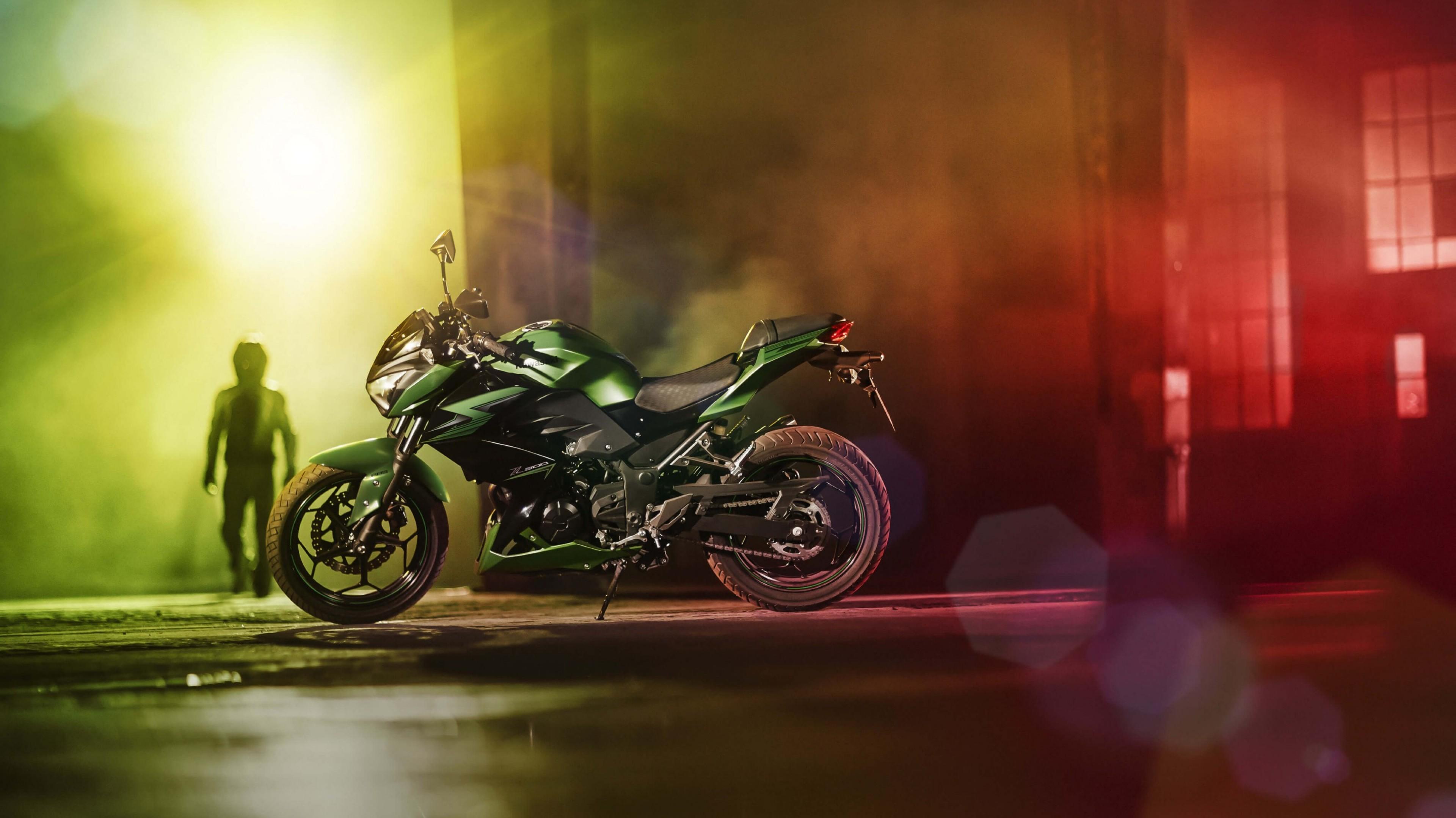 мотоцикл зеленый загрузить