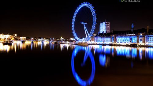Download London Eye River Thames HD Wallpaper