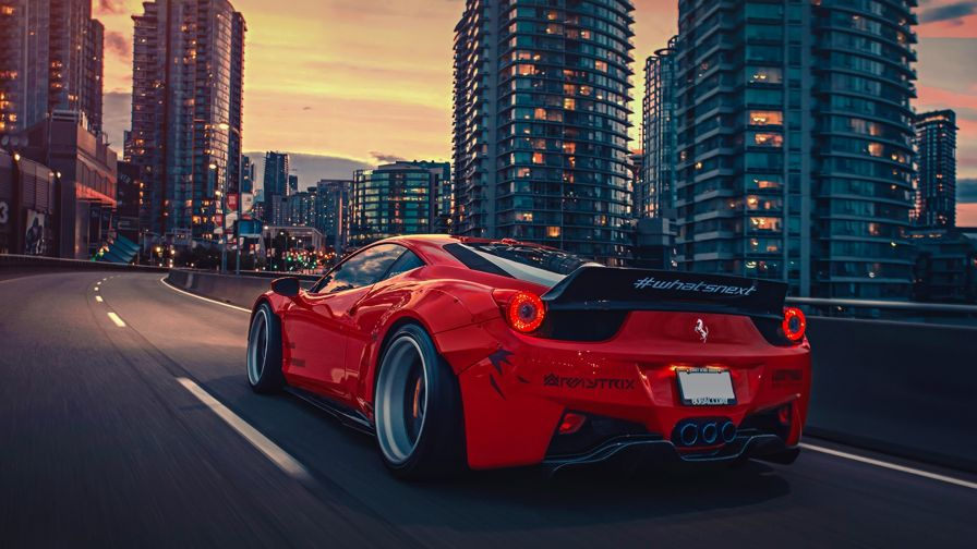 Ferrari 458 Hd Wallpaper for Desktop and Mobiles