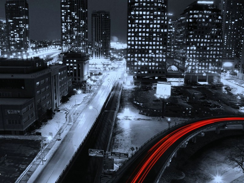 Free Cold City Night Wallpaper for Desktop and Mobiles