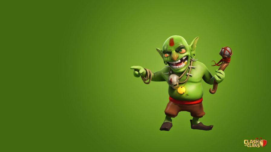 Free Download Clash Of Clans Goblin Full Hd Wallpaper for Desktop and Mobiles