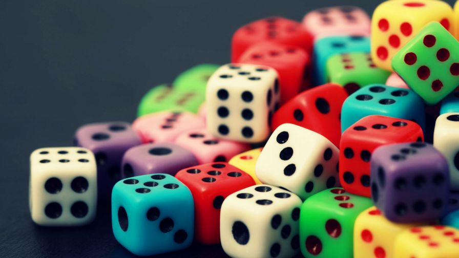 Free Download Color Dice Full Hd Wallpaper for Desktop and Mobiles