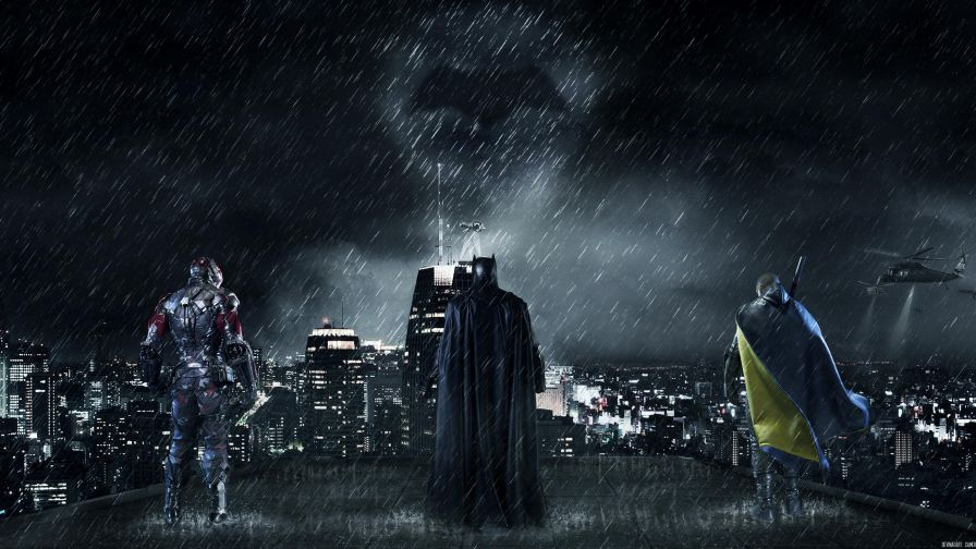 Free Download Gotham City Batman Hd Wallpaper for Desktop and Mobiles
