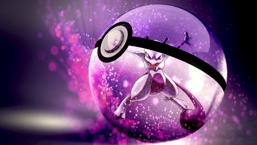 Free Download Mewtwo Pokeball Full Hd Wallpaper for Desktop and Mobiles