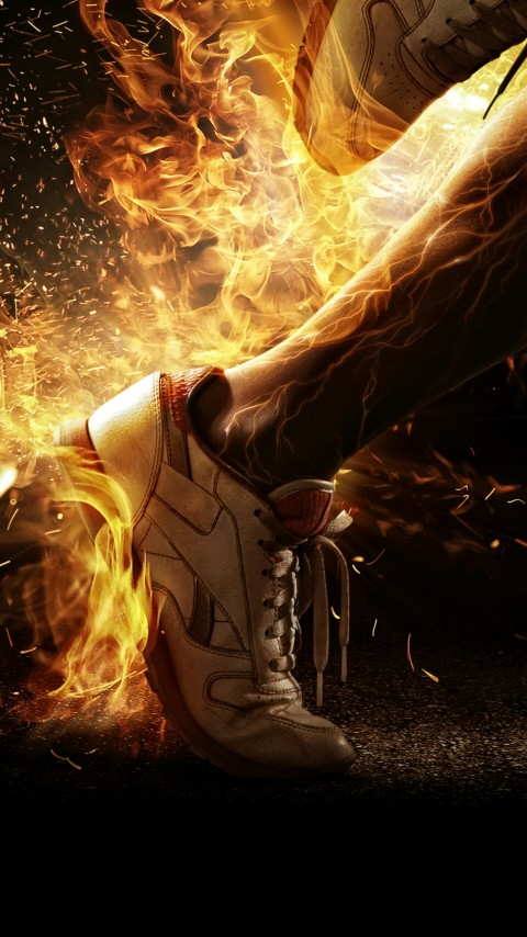 Free Soccer Shoes on Fire Wallpaper for Desktop and Mobiles