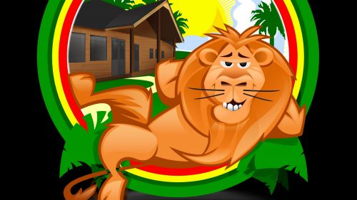 Funny lion animation HD Wallpaper