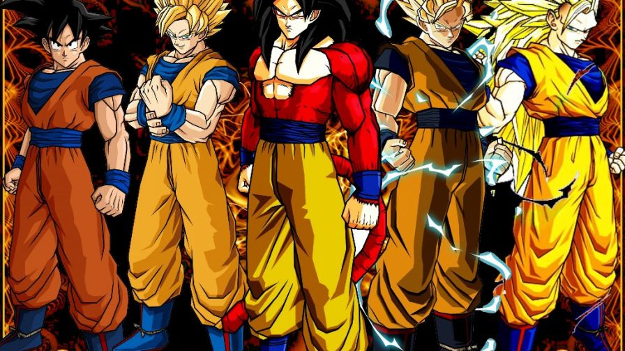 Goku 5 Levels Of Transformations Wallpaper for Desktop and Mobiles