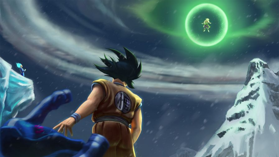 Goku Vegeta Vs Broly Hd Wallpaper Wallpapersnet
