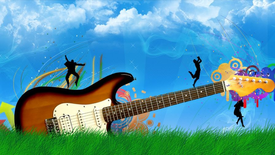 Guitar Art Wallpaper for Desktop and Mobiles