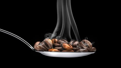 Hot coffee beans HD Wallpaper