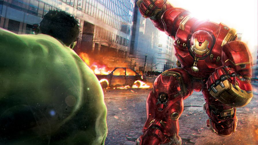 Hulk vs Hulkbuster Hd Wallpaper for Desktop and Mobiles