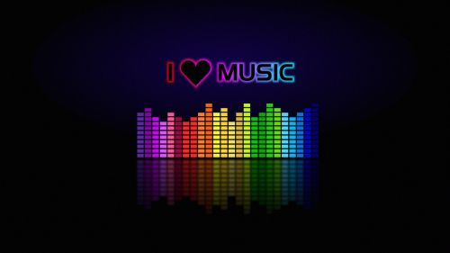I love music HD Wallpaper