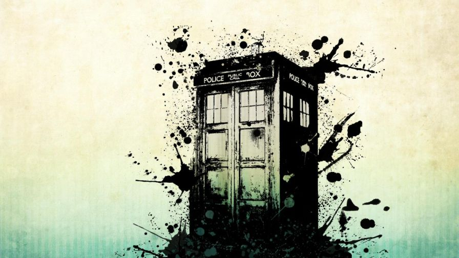 Inky Tardis Wallpaper for Desktop and Mobiles