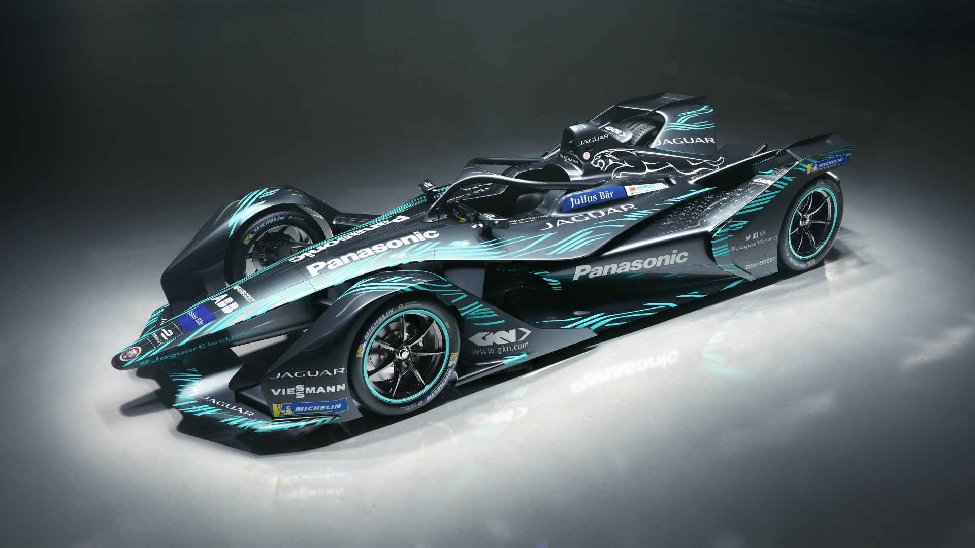 Jaguar I Type Electric Formula E Car 4K