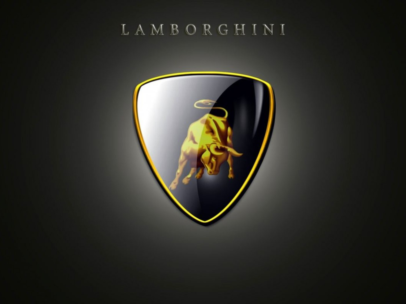 Lamborghini Logo 3D and Hd Wallpaper for Desktop and Mobiles