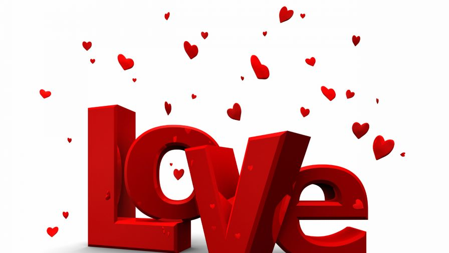 Love In Block Letters Wallpaper for Desktop and Mobiles