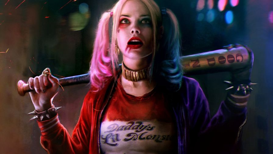 Margot Robbie Harley Quinn & Joker Wallpaper for Desktop and Mobiles
