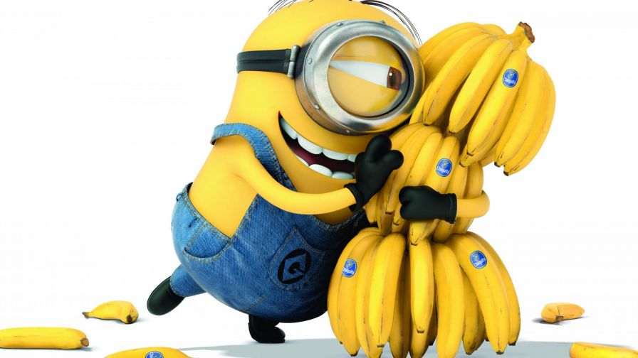 Minion Holding A Bunch of Bananas Wallpaper for Desktop and Mobiles