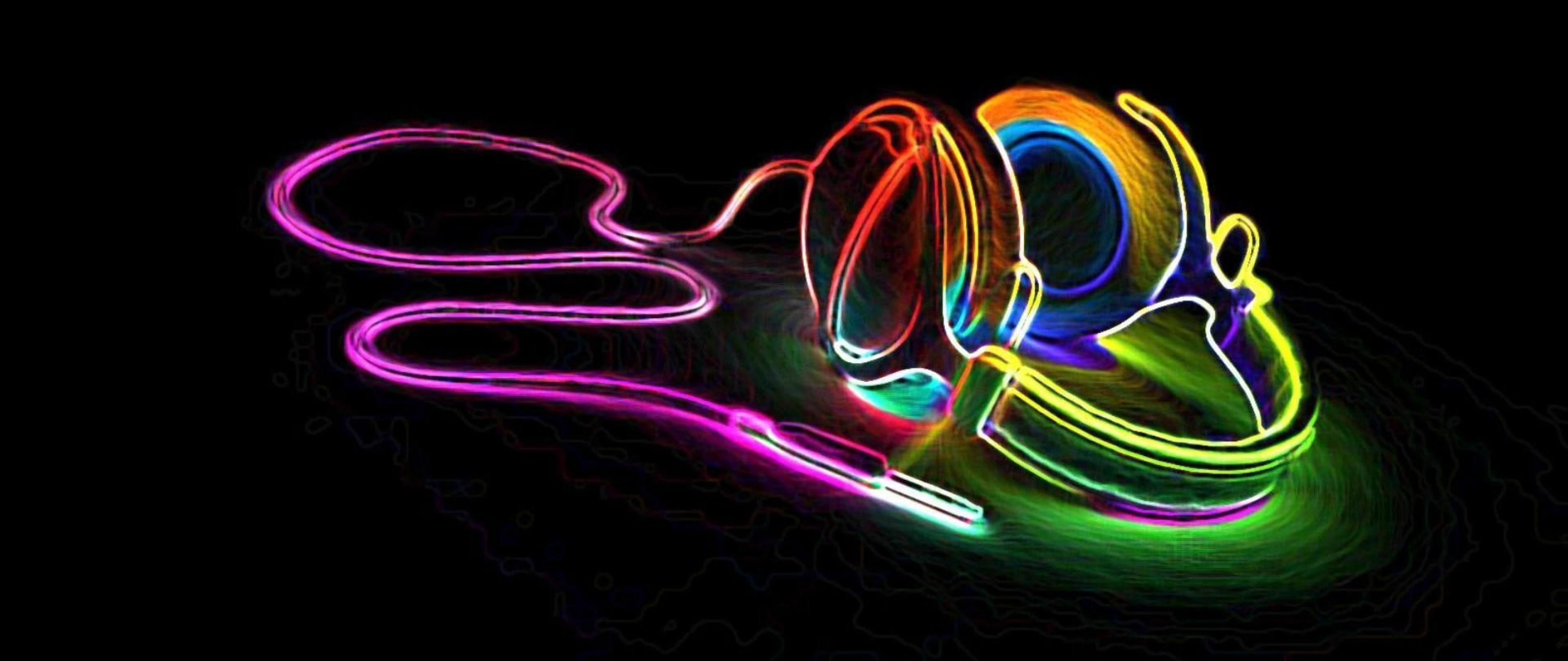 Music Colorful Headphones Full Hd Wallpaper for Desktop and Mobiles