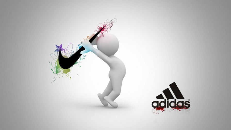 Nike Vs Adidas Logo Wallpaper for Desktop and Mobiles