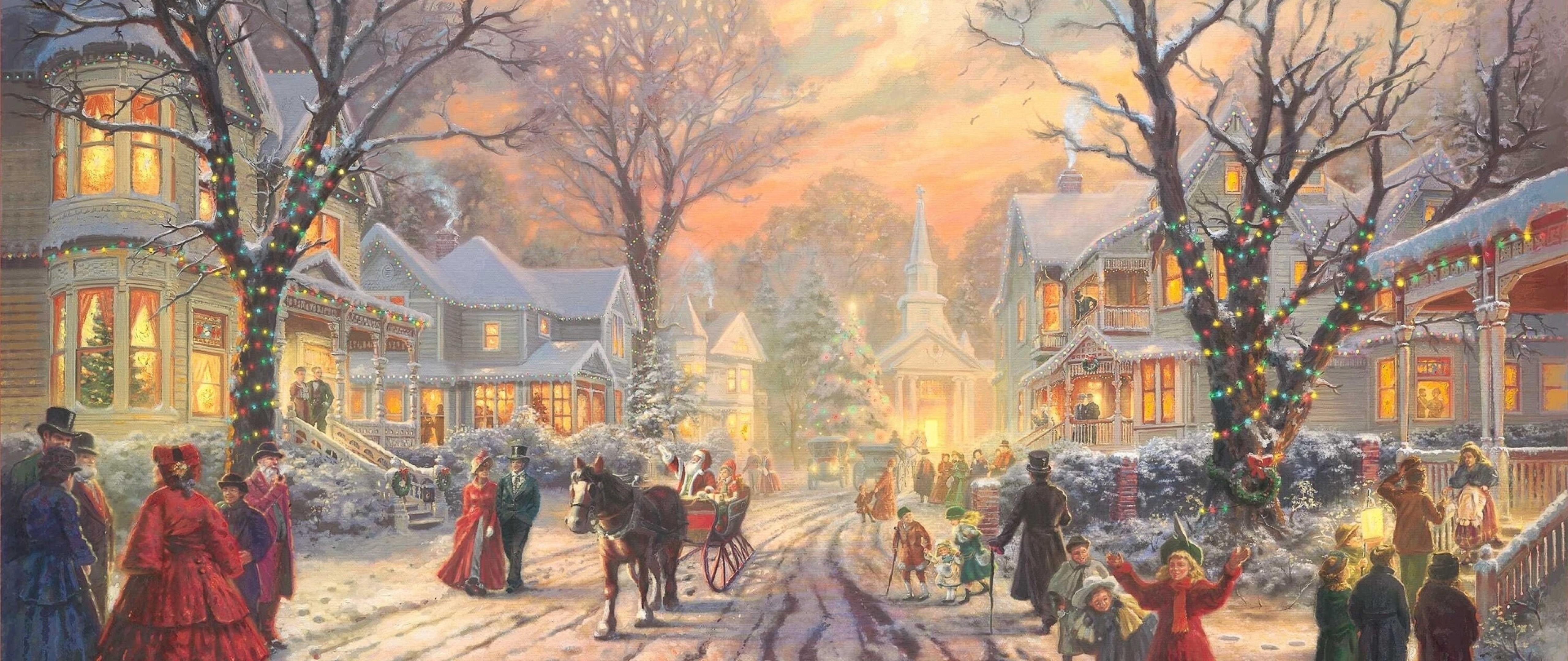 People celebrating Christmas HD Wallpaper 4K Ultra HD Wide ...