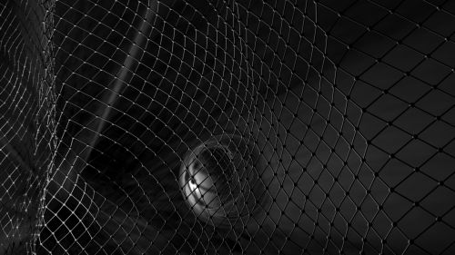 Sci-fi monochrome fence HD Wallpaper