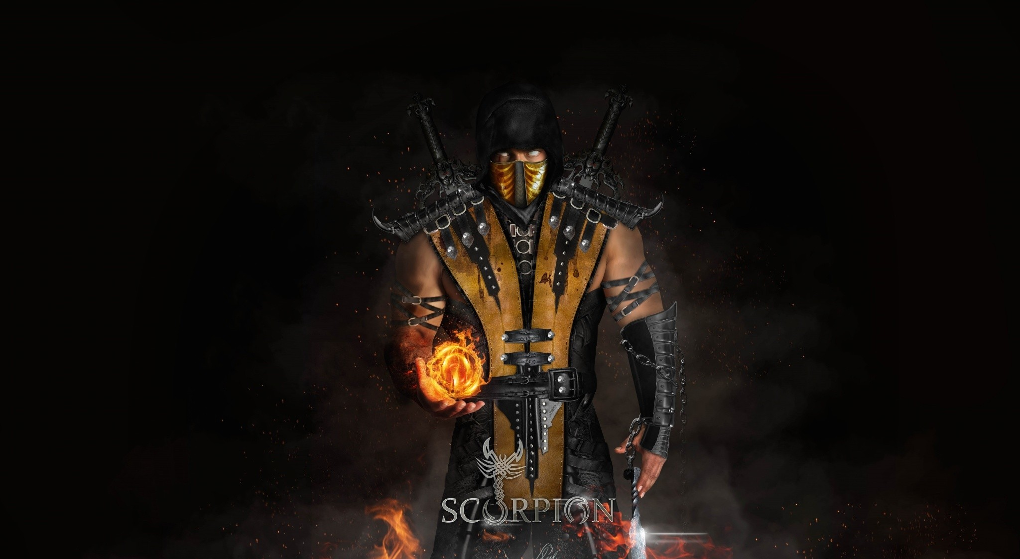 Scorpion Cool Mortal Kombat X Hd Wallpaper for Desktop and Mobiles