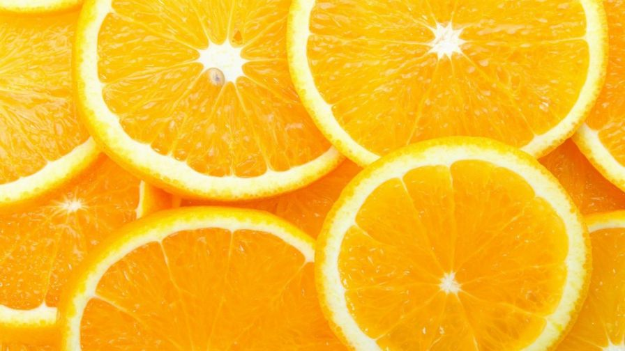 Sliced Orange Fruit Hd Wallpaper for Desktop and Mobiles