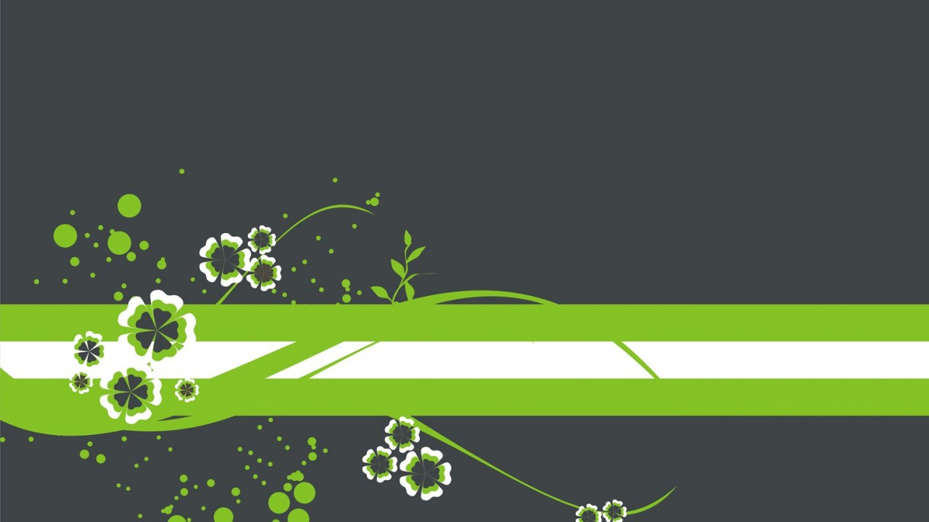 Stripe Green Flowers Wallpaper for Desktop and Mobiles