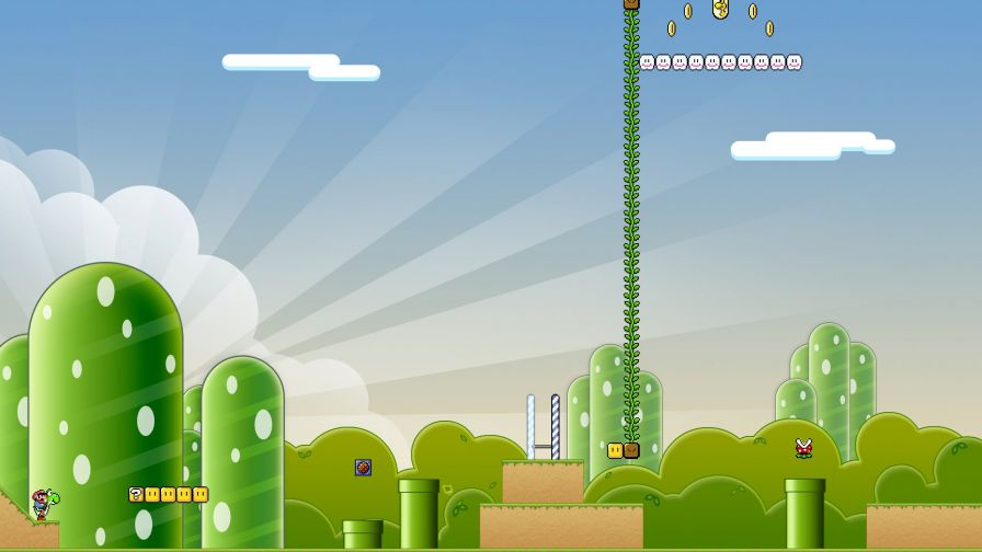 Super Mario Background Hd Wallpaper for Desktop and Mobiles
