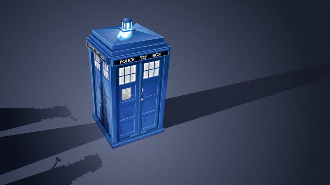 Tardis Van Gogh HD Wallpaper