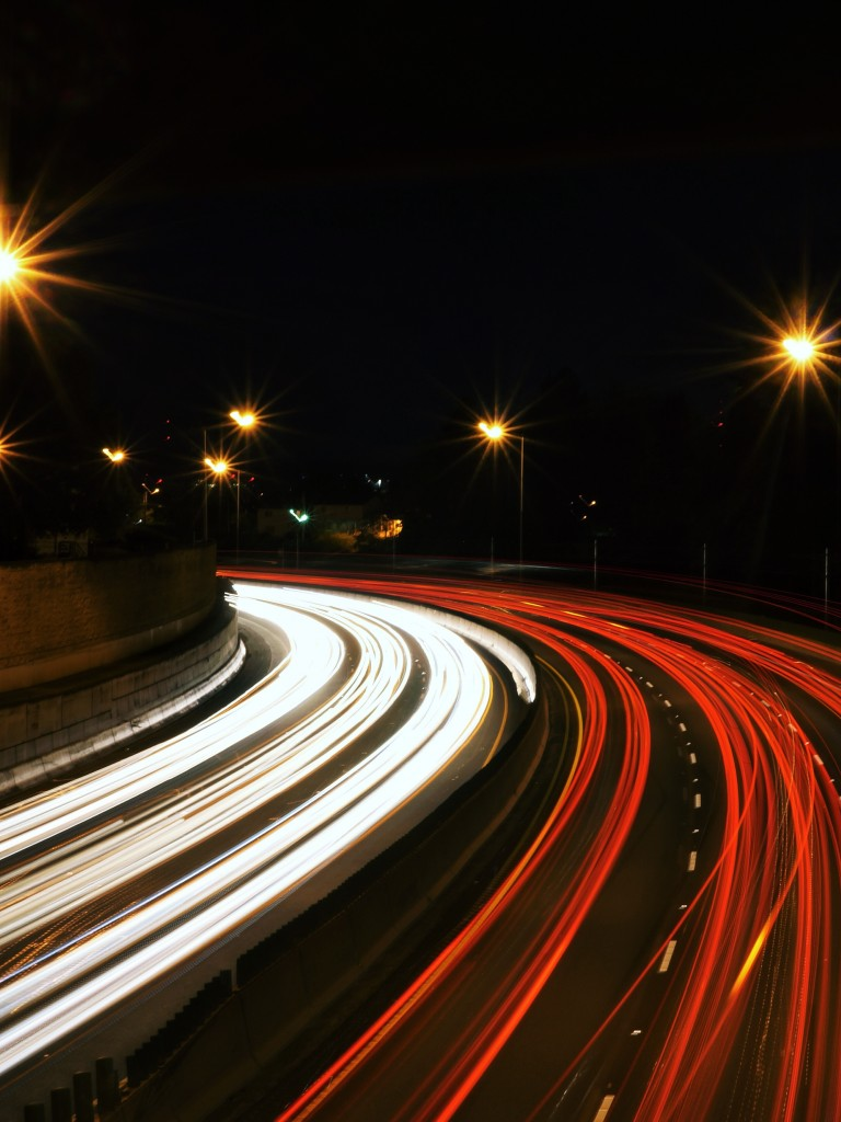 time lapse cars highway wallpaper for desktop and mobiles