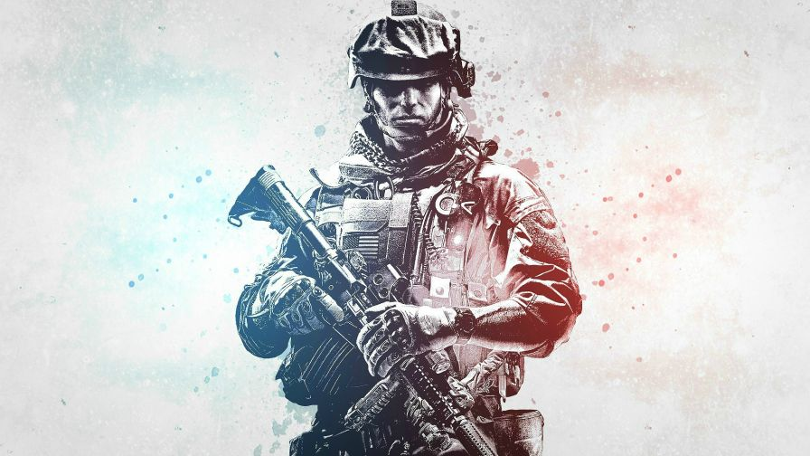 Ultra Gaming Soldier Full Hd Wallpaper for Desktop and Mobiles